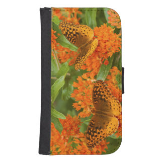 Great Spangled Fritillaries on Butterfly Milkweed Samsung S4 Wallet Case