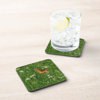 Great Spangled Fritillary Butterfly Beverage Coaster