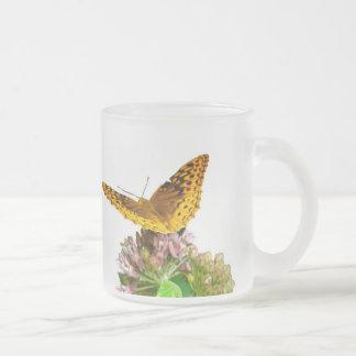 Great Spangled Fritillary Butterfly on Milkweed Mug