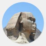 great sphinx giza classic round sticker