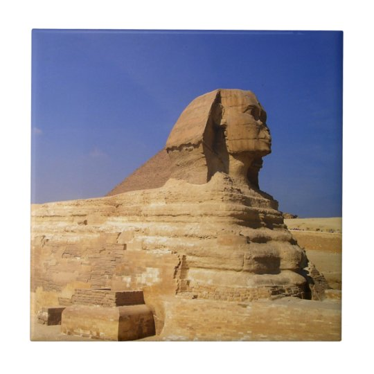 Great Sphinx of Giza, Egypt Small Square Tile