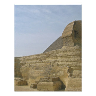 Great Sphinx with the pyramid Full Color Flyer