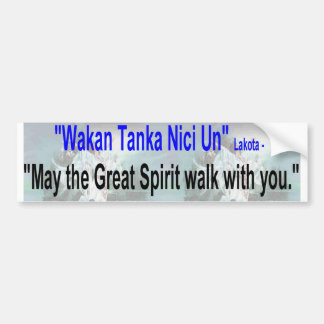 great spirit walk bumper sticker