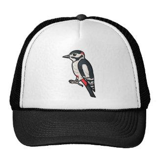 Great Spotted Woodpecker Cap