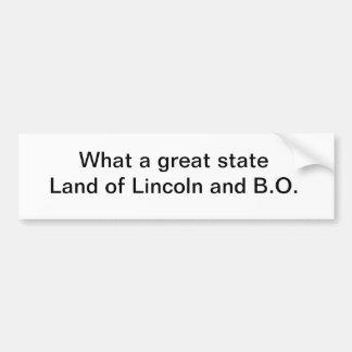 Great state bumper sticker