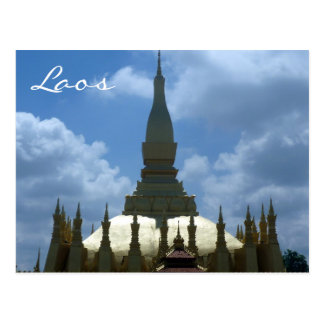 great stupa lao postcard