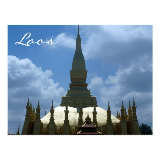 great stupa lao postcards