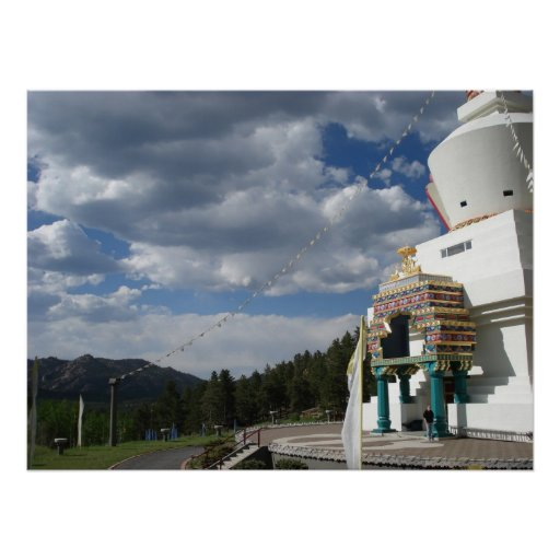 Great Stupa: Side View Posters