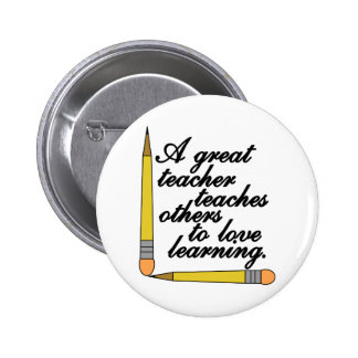Great Teacher 6 Cm Round Badge