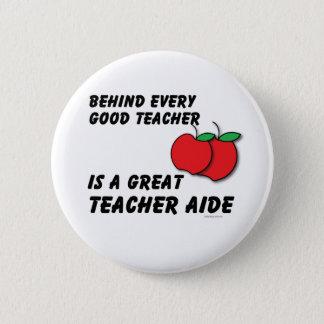 Great Teacher Aide 6 Cm Round Badge