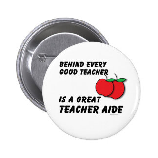 Great Teacher Aide 6 Cm Round Badge