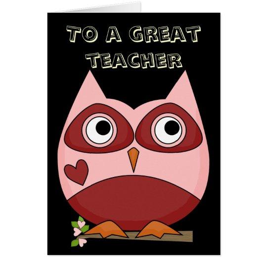 Great Teacher Thank You Card