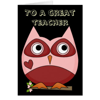 Great Teacher Thank You Greeting Cards