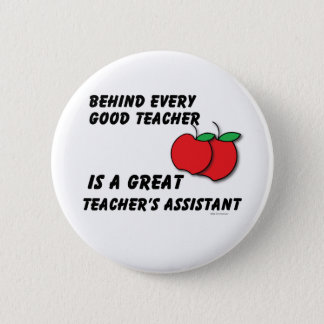 Great Teacher's Assistant 6 Cm Round Badge