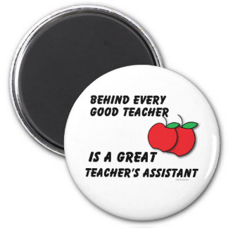 Great Teacher's Assistant 6 Cm Round Magnet