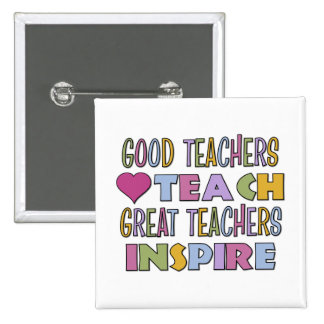 Great Teachers Inspire 15 Cm Square Badge