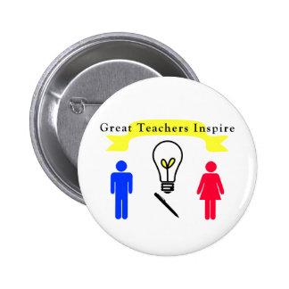 Great Teachers Inspire 6 Cm Round Badge