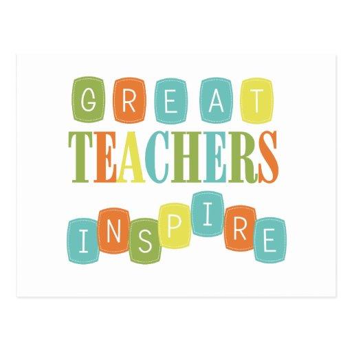 Great Teachers Inspire Post Card