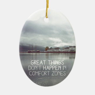 Great Things comes to those who work hard Christmas Ornament