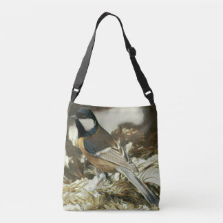 Great Titmouse Painting Crossbody Bag