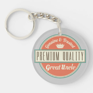 Great Uncle (Funny) Gift Single-Sided Round Acrylic Key Ring