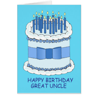Great Uncle Happy  Birthday. Greeting Card