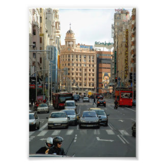 Great Via of Madrid in Christmas Photograph