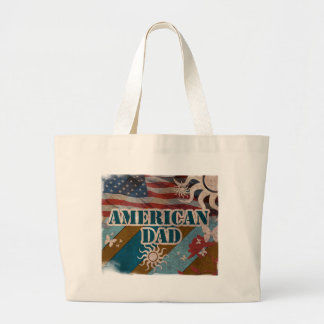 great vintage american dad for father's day canvas bag