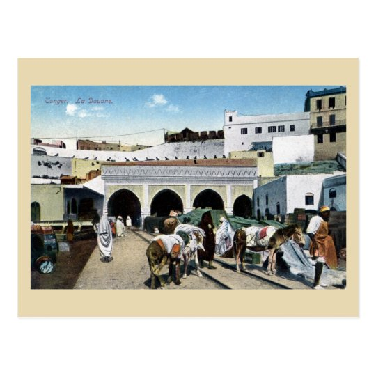 Great vintage Morocco Tangier customs office Postcard