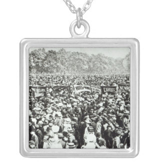 Great Votes for Women demonstration in Hyde Silver Plated Necklace