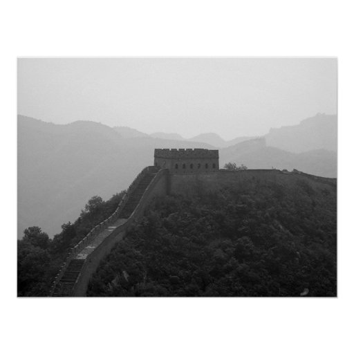 Great Wall B&W Poster