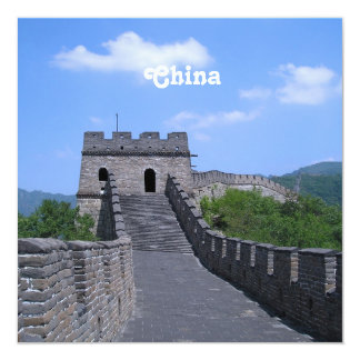 Great Wall in China 13 Cm X 13 Cm Square Invitation Card