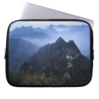 Great Wall in early morning mist, China Laptop Sleeve