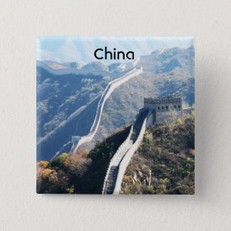 Great Wall of China 15 Cm Square Badge