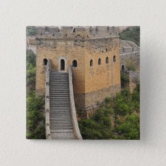 Great Wall of China at Jinshanling, China, Asia 2 15 Cm Square Badge