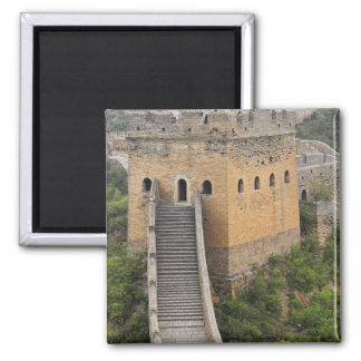 Great Wall of China at Jinshanling, China, Asia 2 Square Magnet