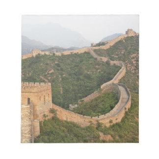 Great Wall of China at Jinshanling, China, Asia Notepad