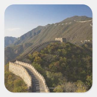 Great Wall of China at Mutianyu 2 Square Sticker