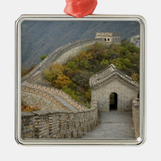 Great Wall of China at Mutianyu Silver-Colored Square Decoration