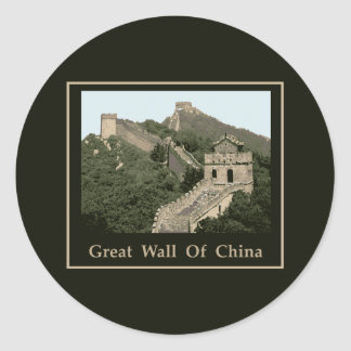 Great Wall Of China Classic Round Sticker