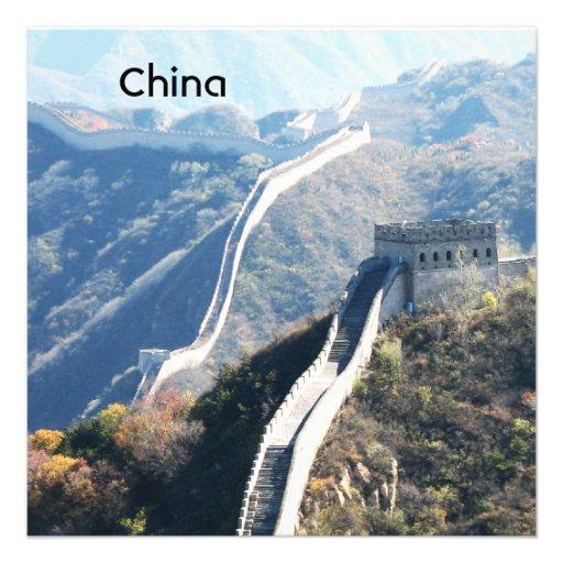 Great Wall of China Invitation