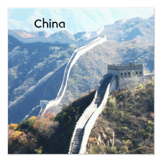 Great Wall of China 13 Cm X 13 Cm Square Invitation Card