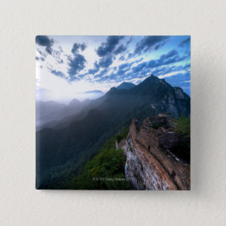 Great Wall of China, JianKou unrestored section. 2 15 Cm Square Badge