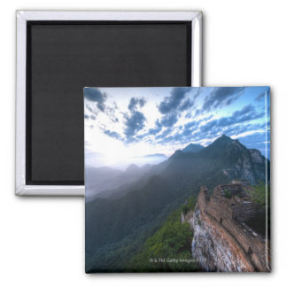 Great Wall of China, JianKou unrestored section. 2 Square Magnet
