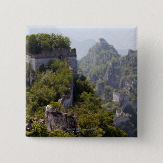Great Wall of China, JianKou unrestored section. 5 15 Cm Square Badge