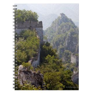 Great Wall of China, JianKou unrestored section. 5 Spiral Notebook