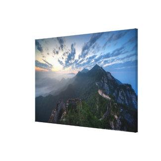 Great Wall of China, JianKou unrestored section. 8 Canvas Print