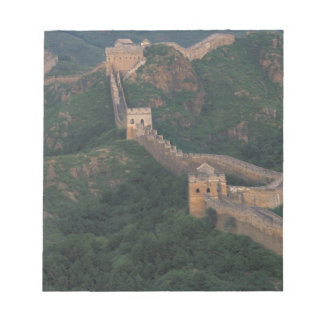 Great Wall winding through mountains. Notepads