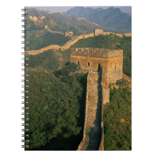 Great Wall winding through the mountain, China Spiral Notebook