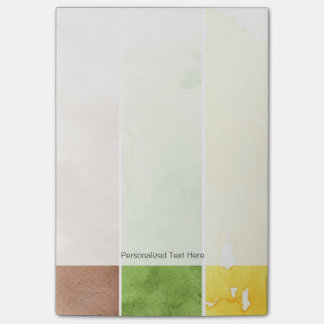 great watercolor background - watercolor paints 3 post-it notes